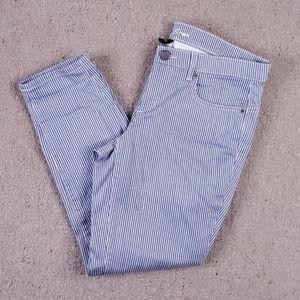VS Siren London Jeans Pinstripe Ankle Pants